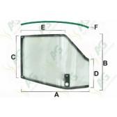 Upper Door Glass Curved LH