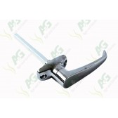 Door handle L type Non locking 45mm C-C