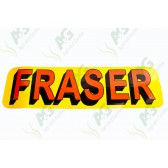 Decal: Frazer Orange Letters