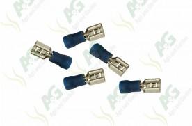 Blue Lucar Female Terminal 6.4mm