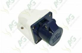 3 Pin Socket Female Blue - Square