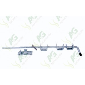 Garage Door Bolt Black 24 Inch