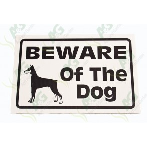 Sign: Beware Of Dog 360 X 250 mm - Plastic