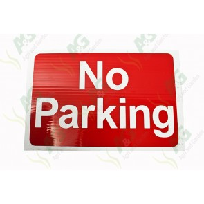 Sign:No Parking 450 X 300 mm - Plastic