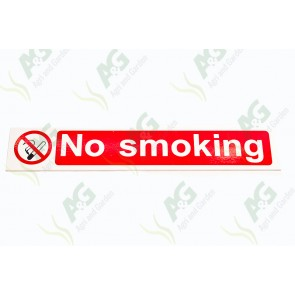 Sign:No Smoking 65 X 380 mm - Plastic