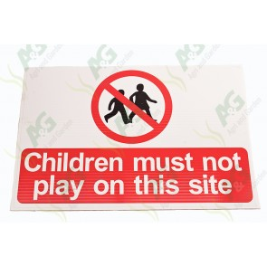 Sign:Children Playing 450 X 300 mm - Plastic