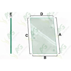 LH Side Window Glass