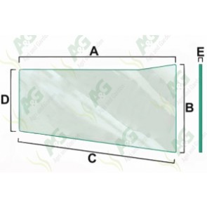 Lower Fornt Window Glass