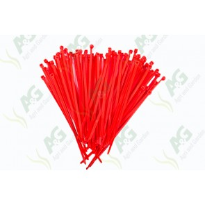 Cable Tie 3.6 X 150mm Red (100)
