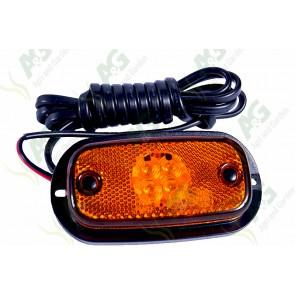 Marker Lamp Flat Type Amber Large Led