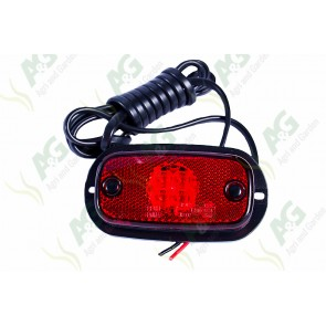 Marker Lamp Flat Type Red Large Led