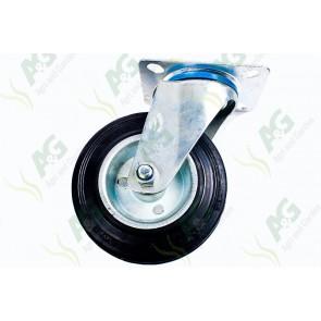 Castor Rubber Swivel Plate 5 1/2 Inch