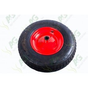 Wheel Barrow Wheel 400 X 8 with  Bearings 20mm Centre