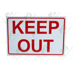 Sign: Keep Out 450 X 300 mm - Aluminium