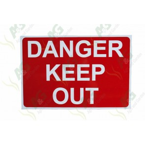 Sign: Danger Keep Out 460 X 300 mm - Aluminium