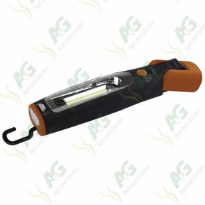DRAPER EXPERT 3W COB LED Rechargeable Magnetic Inspection Lamps-Orange