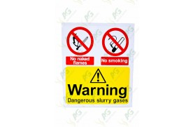 Sign:Warning Slurry Gases 520 X 440 - Plastic