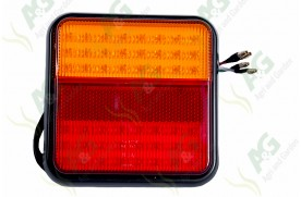 Tail Lamp Square 4 Function Led