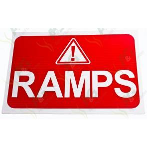 Sign:Ramps 450 X 300 mm - Plastic