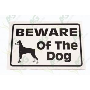 Sign: Beware Of Dog 360 X 250 mm - Plastic