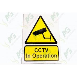 Sign:C.C.T.V Operation 230 X 180 mm - Plastic