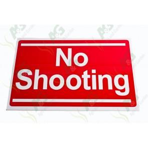 Sign:No Shooting 450 X 300 mm - Plastic