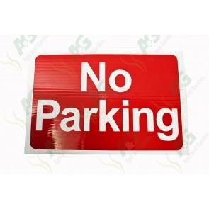 Sign:No Parking 450 X 300 mm - Plastic