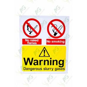 Sign:Warning Slurry Gases 520 X 440 - Plastic
