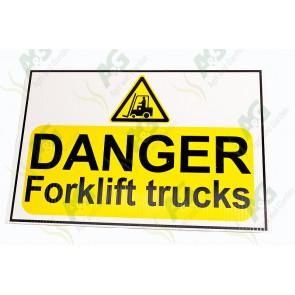 Sign: Danger Forklift Trucks 450 X 300 mm - Plastic