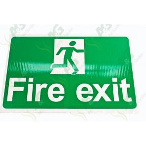 Sign:Fire Exit 450 X 300 mm - Plastic