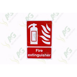 Sign: Fire Extinguisher 450 X 300 mm - Plastic