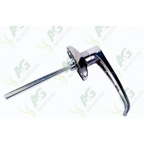 Door Handle L type Non Locking 38mm C-C