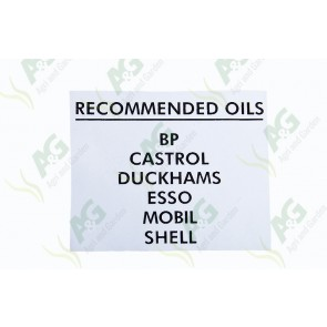 Decal Oil Recommended