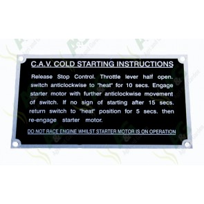 Cold Starting Plate Fe35 Yellow