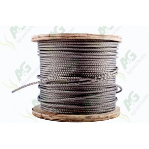 Wire Rope Stainless Steel 8mm - Sold Per Metre