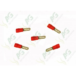 Red Male Bullet Terminal 4mm