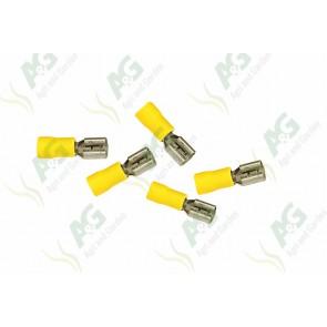 Yellow Lucar Female Terminal 6.4mm
