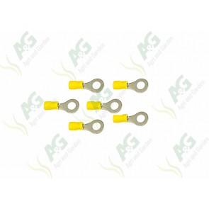 Yellow Ring Terminal 6mm