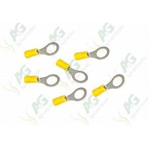 Yellow Ring Terminal 10mm