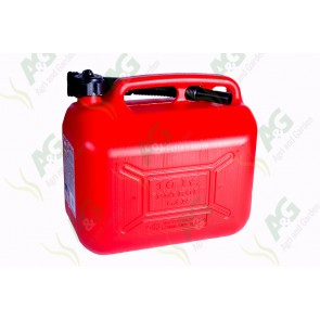Plastic Fuel Can ;Red 10 Litre