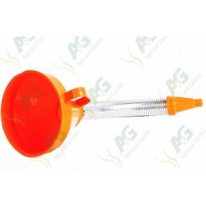 Funnel Plastic 160mm Metal Flexi Spout