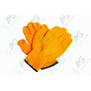 Gloves Orange Dotted Grip