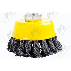 Wire Brush Wheel Twisted 75mm