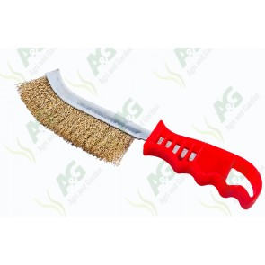 Wire Brush - Curved; Plastic Handle