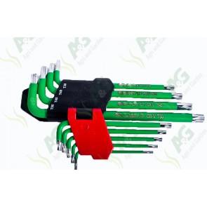 Torx Key Set Long Arm 9Pc
