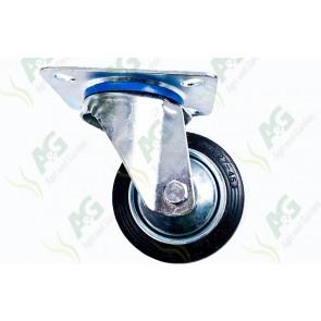 Castor Rubber Swivel Plate 3 Inch