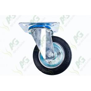 Castor Rubber Swivel Plate 4 Inch