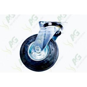 Castor Rubber Swivel Plate 6 Inch