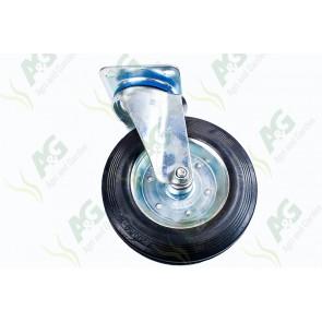 Castor Rubber Swivel Plate 8 Inch