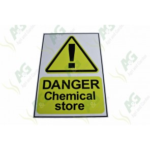 Sign: Chemical Store 450 X 300 mm - Plastic